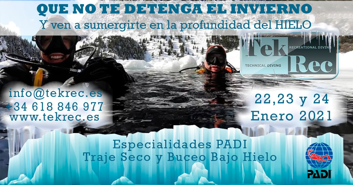 Evento Buceo bajo hielo 2021 traje seco