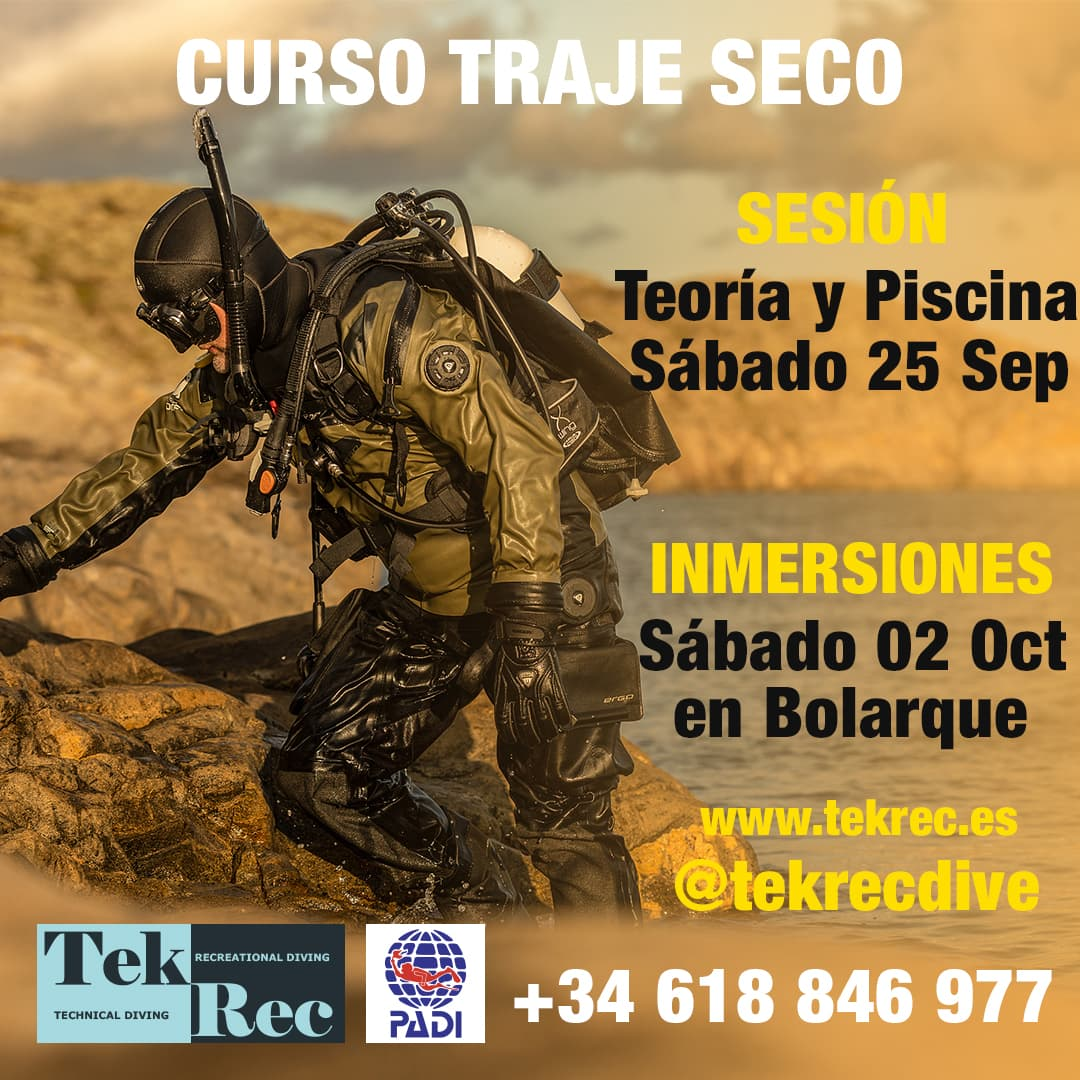 Curso Traje Seco dry suite padi Tekrec Madrid